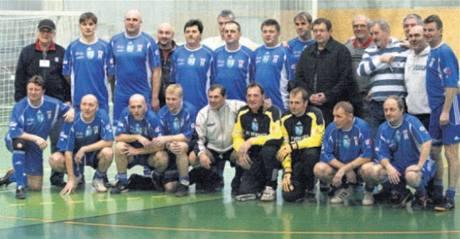 Fotbalový tým Vítkovic, který slavil úsp�chy v osmdesátých letech