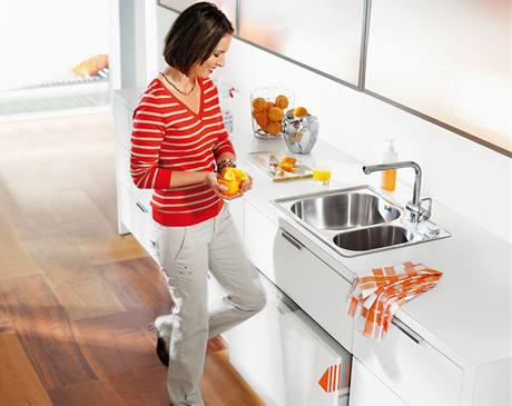 Dotykové otvírání usnadňuje práci v kuchyni