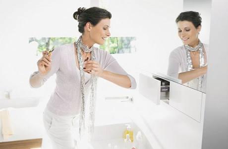 I v koupelně se dotykové otvírání využije velmi často