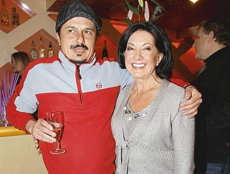 Marie Rottrová se synem Vítkem
