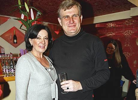 Marie Rottrová se svým přítelem