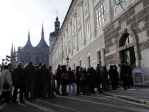 Lidé si přišli do kutnohorské Jezuitské koleje prohlédnout vzácnou iluminaci z 15. století