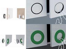 Grafická prezentace soutěžního návrhu úchytky Clap flap Pavola Tormy