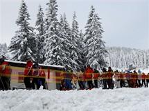 Slovensko. První fronty na letošní sníh na Štrbském Plese