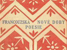 Josef Čapek - obálka k Francouzské poesii nové doby