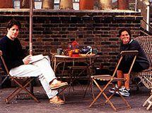 Z natáčení filmu Notting Hill - na terase