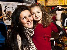 Andrea Kloboučková s čtyřletou dcerou Aničkou