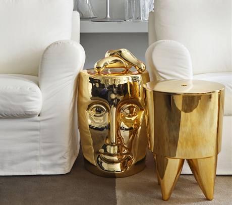 Bonze a Bubu od Philippa Starcka - stolek (či taburet) Bonze má připomínat Budhu i tvář Lorenza Medicejského