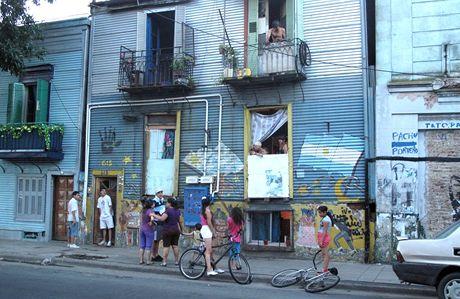 Buenos Aires, známá čtvrť La Boca