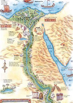 Mapa starověkého Egypta
