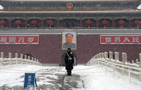 Portrét Mao Ce-tunga na náměstí Nebeského klidu v Pekingu
