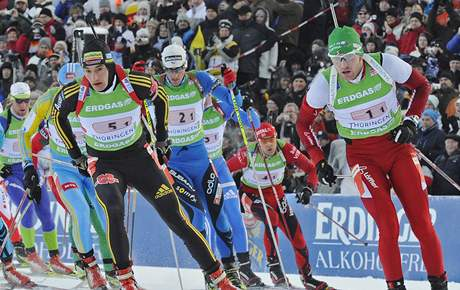 Biatlon - štafeta muži