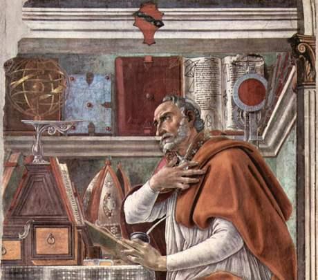 Sv. Augustin na malbě Sandra Botticelliho - 15. století