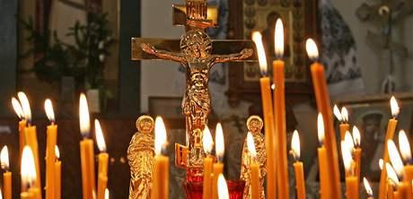 Pravoslavná mše v kostele svatého Václava na Gorazdově ulici v Brně (7. ledna 2010)