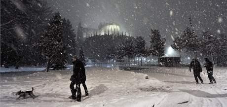 Zima ve Španělsku. Na snímku město Vitoria (8. ledna 2010)