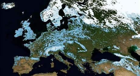 Evropa ze satelitu