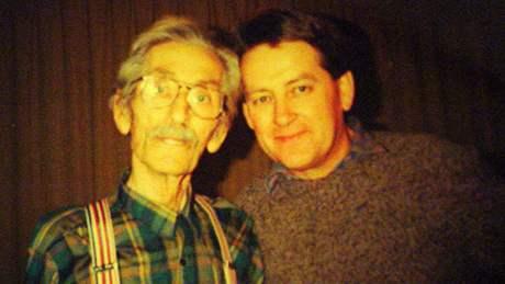 Josef Vydrář se synem Pavlem měsíc před svou smrtí v prosinci 1992