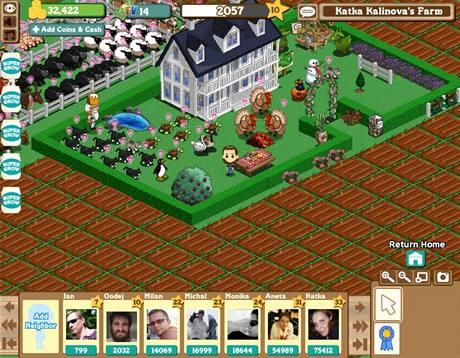 Hra Farmville na soci�ln� s�ti Facebook