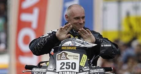 Josef Macháček při slavnostním zahájení Rallye Dakar 2010