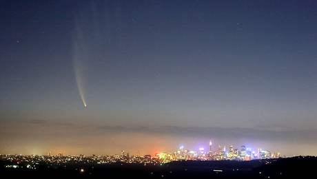Kometa McNaught nad Sydney
