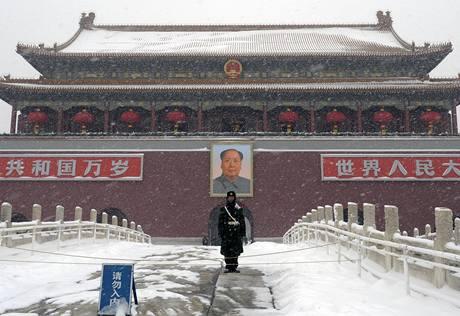 Peking se potýká se sněhovou kalamitou (3. 1. 2010)