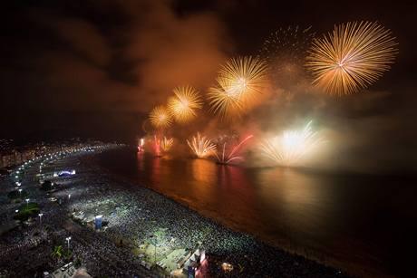 Velkolepé ohňostroje v Brazílii
