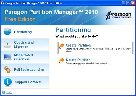 Partition Manager 2010 Free Edition