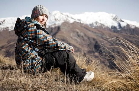 Snowboardistka Šárka Pančochová v novozélandské Cardroně