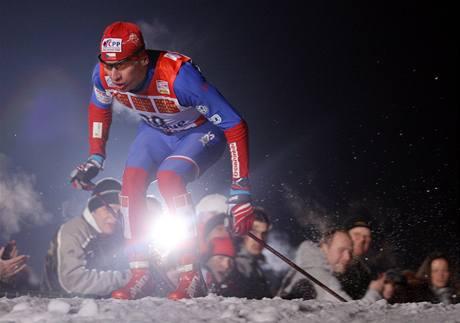 Lukáš Bauer při Tour de Ski v Praze