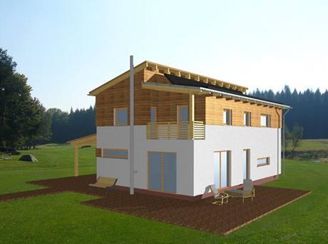 Vizualizace domu - pohled ze zahrady