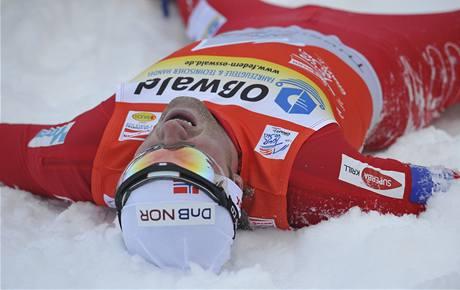 Petter Northug jako vítěz podniku Tour de Ski v Oberhofu