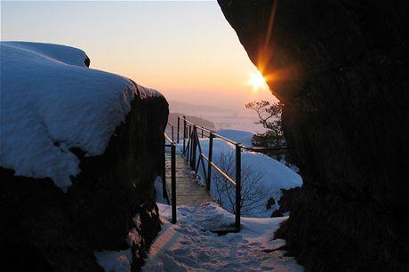 Český ráj, konec ledového dne v Drábských světničkách