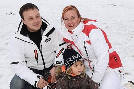 Vendula Auš Svobodová s manželem a synem Jakubem