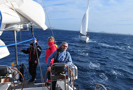 Daniel Hůlka na lodi