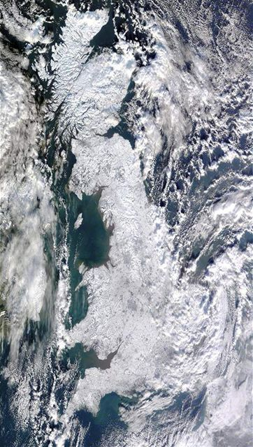 Velká Británie ze satelitu