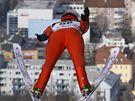 Janne Ahonen v kvalifikaci na závod Turné čtyř můstků v Innsbrucku