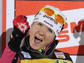 Petra Majdičová triumfuje ve sprintu v rámci seriálu Tour de Ski