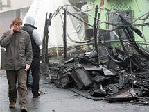 Silvestrovské oslavy skončily požárem v brněnské restauraci Havana. (1.1.2010)