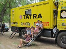 Tatra Aleše Lopraise v kempu u města Soto.