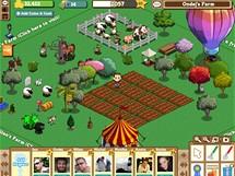 Hra Farmville na sociální síti Facebook