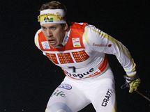 Emil Jönsson při Tour de Ski v Praze