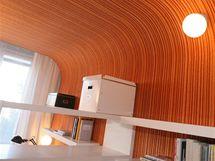 Také vdětském pokoji designéři pomocí dřevotřískových dílů zaoblili rohy