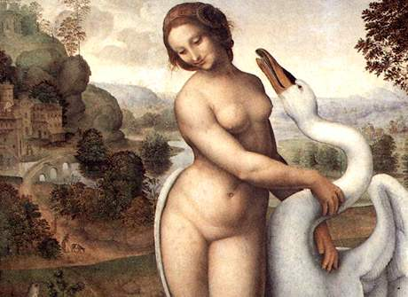 Léda s labutí, obraz Leonarda da Vinciho