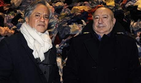 Christian Boltanski (vlevo) & Anish Kapoor (ten připraví Monumentu 2011) na vernisáži akce Monumenta 2010