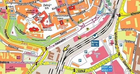 Poblíž pátého nástupiště hlavního nádraží v Brně srazil vlak muže