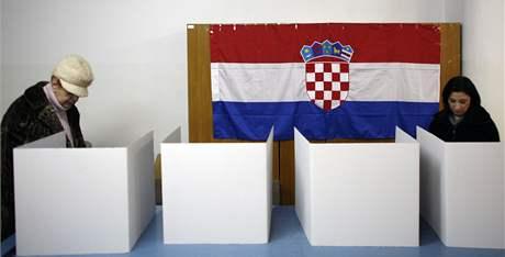 Prezidentské volby v Chorvatsku, na snímku volební místnost v Záhřebu (10. ledna 2010)