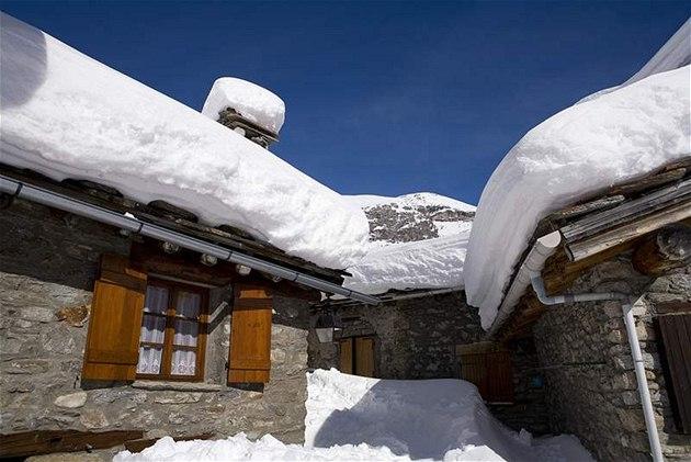 Zasněžené střechy