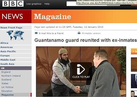 Setkání vězně a věznitele z Guantánama na stránkách BBC