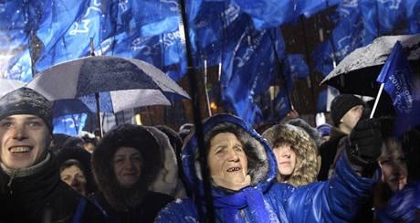 Příznivci Viktora Janukovyče