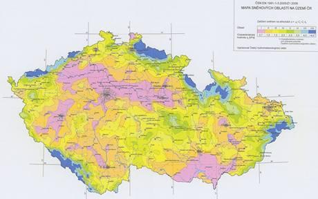 Mapa sněhových oblastí